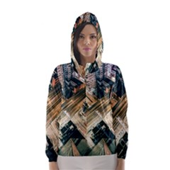Architecture Buildings City Hooded Wind Breaker (women)