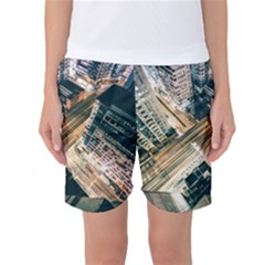 Architecture Buildings City Women s Basketball Shorts