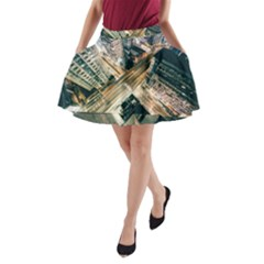 Architecture Buildings City A Line Pocket Skirt