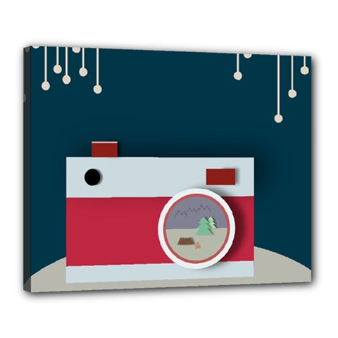 Camera Vector Illustration Canvas 20  X 16