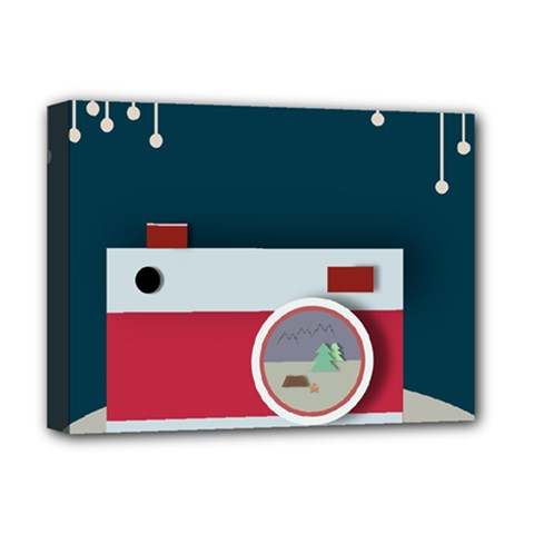 Camera Vector Illustration Deluxe Canvas 16  X 12