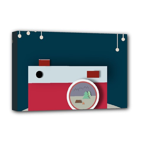 Camera Vector Illustration Deluxe Canvas 18  X 12