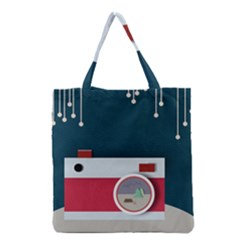 Camera Vector Illustration Grocery Tote Bag