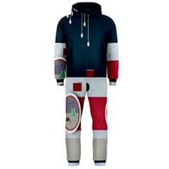 Camera Vector Illustration Hooded Jumpsuit (men)