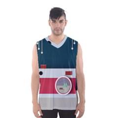Camera Vector Illustration Men s Basketball Tank Top