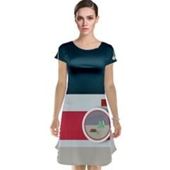 Camera Vector Illustration Cap Sleeve Nightdress