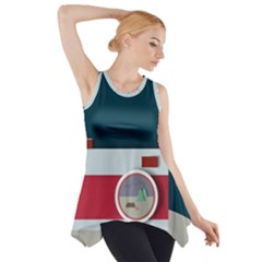 Camera Vector Illustration Side Drop Tank Tunic
