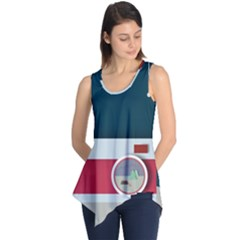 Camera Vector Illustration Sleeveless Tunic