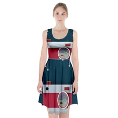 Camera Vector Illustration Racerback Midi Dress