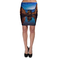 Hamburg City Blue Hour Night Bodycon Skirt