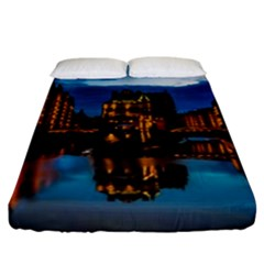 Hamburg City Blue Hour Night Fitted Sheet (king Size)