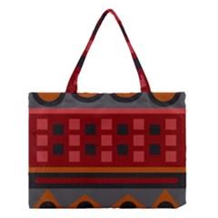 Red Aztec Medium Tote Bag