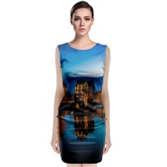 Hamburg City Blue Hour Night Classic Sleeveless Midi Dress