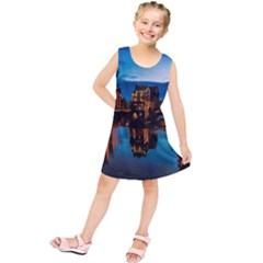 Hamburg City Blue Hour Night Kids  Tunic Dress