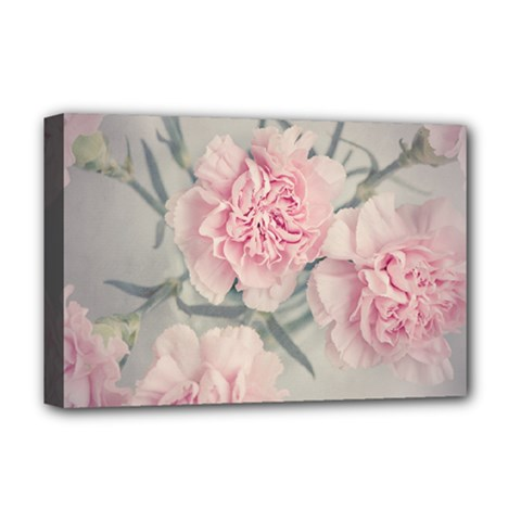 Cloves Flowers Pink Carnation Pink Deluxe Canvas 18  X 12