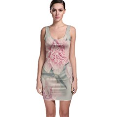 Cloves Flowers Pink Carnation Pink Sleeveless Bodycon Dress