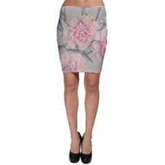 Cloves Flowers Pink Carnation Pink Bodycon Skirt