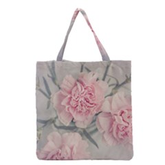 Cloves Flowers Pink Carnation Pink Grocery Tote Bag