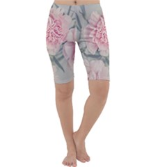 Cloves Flowers Pink Carnation Pink Cropped Leggings