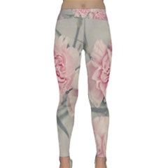Cloves Flowers Pink Carnation Pink Classic Yoga Leggings