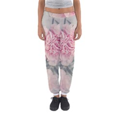Cloves Flowers Pink Carnation Pink Women s Jogger Sweatpants