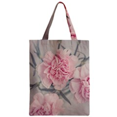 Cloves Flowers Pink Carnation Pink Zipper Classic Tote Bag