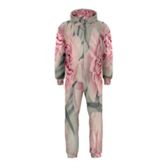 Cloves Flowers Pink Carnation Pink Hooded Jumpsuit (kids)