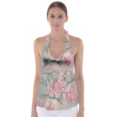 Cloves Flowers Pink Carnation Pink Babydoll Tankini Top