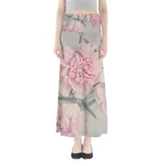 Cloves Flowers Pink Carnation Pink Maxi Skirts