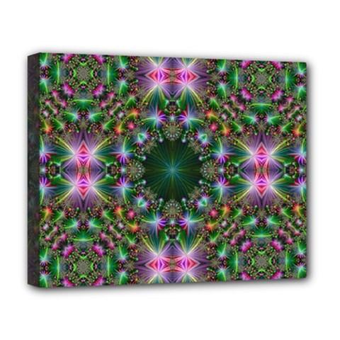 Digital Kaleidoscope Deluxe Canvas 20  X 16