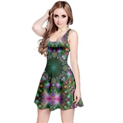 Digital Kaleidoscope Reversible Sleeveless Dress