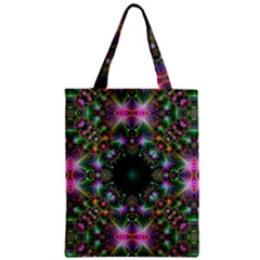 Digital Kaleidoscope Zipper Classic Tote Bag
