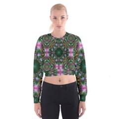 Digital Kaleidoscope Women s Cropped Sweatshirt