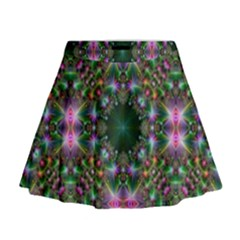 Digital Kaleidoscope Mini Flare Skirt