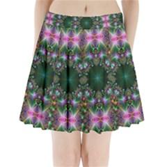 Digital Kaleidoscope Pleated Mini Skirt