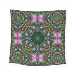 Digital Kaleidoscope Square Tapestry (small)