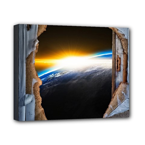 Door Breakthrough Door Sunburst Canvas 10  X 8