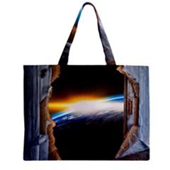 Door Breakthrough Door Sunburst Zipper Mini Tote Bag