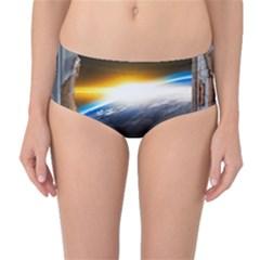 Door Breakthrough Door Sunburst Mid Waist Bikini Bottoms