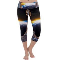 Door Breakthrough Door Sunburst Capri Yoga Leggings