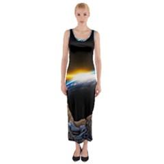 Door Breakthrough Door Sunburst Fitted Maxi Dress