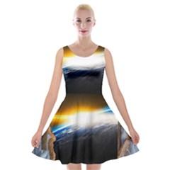 Door Breakthrough Door Sunburst Velvet Skater Dress