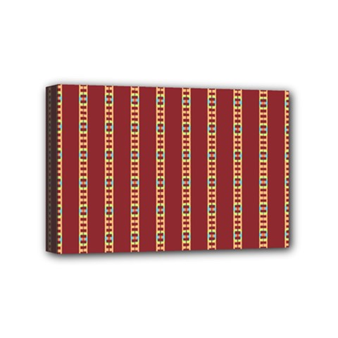 Pattern Background Red Stripes Mini Canvas 6  X 4