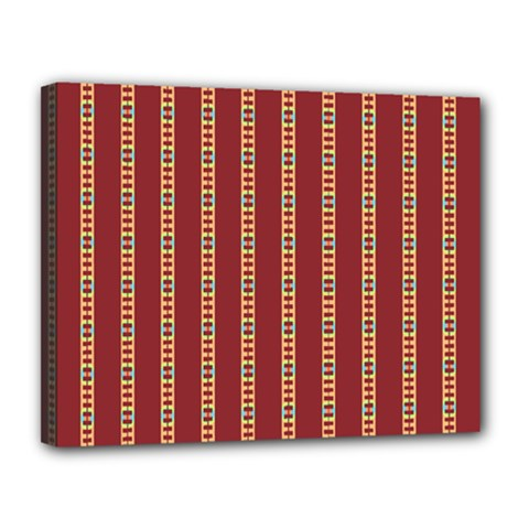 Pattern Background Red Stripes Canvas 14  X 11