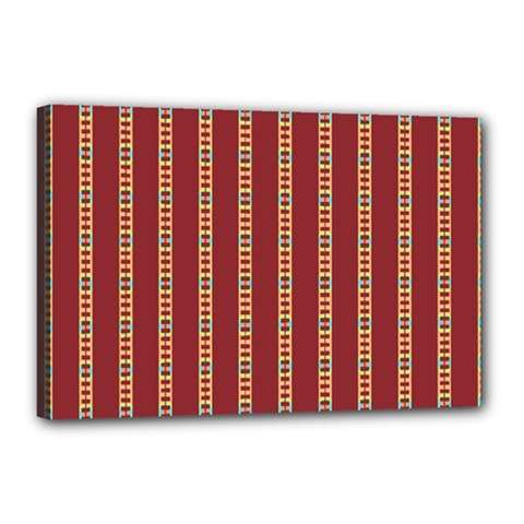 Pattern Background Red Stripes Canvas 18  X 12