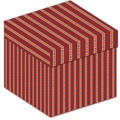 Pattern Background Red Stripes Storage Stool 12