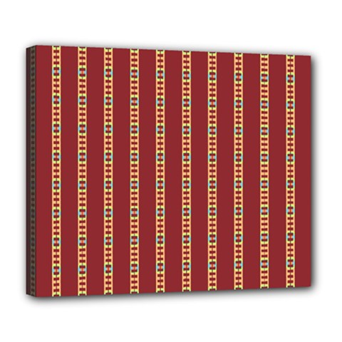 Pattern Background Red Stripes Deluxe Canvas 24  X 20