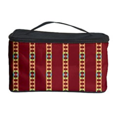 Pattern Background Red Stripes Cosmetic Storage Case
