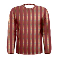Pattern Background Red Stripes Men s Long Sleeve Tee