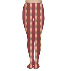 Pattern Background Red Stripes Women s Tights